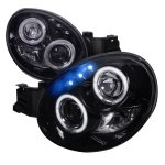 Subaru Impreza 2002-2003 Smoked Halo Projector Headlights with LED