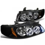 Nissan Sentra 2000-2003 Smoked Halo Projector Headlights LED