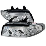 1997 Audi A4 Clear Halo Projector Headlights with LED