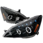 2007 Honda Accord Black Halo Projector Headlights with LED