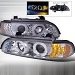 BMW 5 Series 2001-2003 Clear Halo Projector Headlights with LED Signal Lights