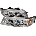 1995 Honda Accord Clear Halo Projector Headlights with LED