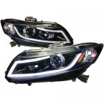 Honda Civic 2012-2013 Smoked Projector Headlights LED DRL Bar