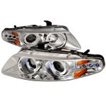 Dodge Avenger 1997-2000 Clear Dual Halo Projector Headlights with LED