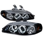 1993 Honda Civic JDM Black Dual Halo Projector Headlights with LED