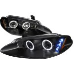 2004 Dodge Intrepid Black Halo Projector Headlights with LED