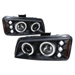 2003 Chevy Silverado 2500 Black Halo Projector Headlights with LED