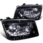 2004 VW Jetta Smoked Projector Headlights with LED