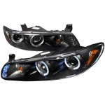 1998 Pontiac Grand Prix Black Halo Projector Headlights with LED