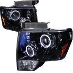 2010 Ford F150 Smoked Halo Projector Headlights with LED