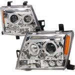 Nissan Xterra 2005-2009 Clear Dual Halo Projector Headlights with LED