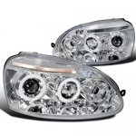 VW Rabbit 2006-2008 Clear Halo Projector Headlights with LED