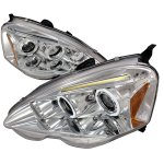 Acura RSX 2002-2004 Clear Dual Halo Projector Headlights