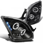 Ford Fusion 2006-2009 Black Dual Halo Projector Headlights with LED