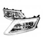 Ford Fusion 2010-2012 Chrome Projector Headlights LED DRL