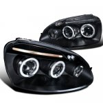 VW Rabbit 2006-2008 Black Halo Projector Headlights with LED