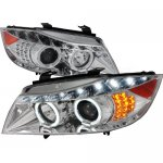 2007 BMW 3 Series Sedan Chrome Halo Projector Headlights with LED Signal