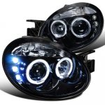Dodge Neon 2003-2005 Smoked Halo Projector Headlights LED