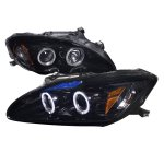 Honda S2000 2004-2009 Smoked Halo Projector Headlights with LED