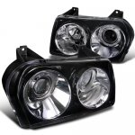 Chrysler 300 2005-2010 Smoked Projector Headlights