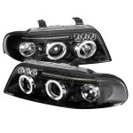 2001 Audi A4 Black Halo Projector Headlights with LED
