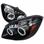 Chevy Cobalt 2005-2010 Black Halo Projector Headlights with LED
