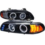 BMW 5 Series 2001-2003 Smoked Halo Projector Headlights with LED Signal