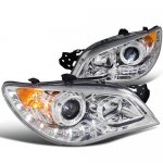 Subaru Impreza 2006-2007 Clear Halo Projector Headlights with LED