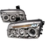 2007 Dodge Charger Clear Halo Projector Headlights with LED