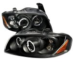 Nissan Sentra 2004-2006 Black Halo Projector Headlights