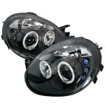 Dodge Neon SRT-4 2003-2005 Black Dual Halo Projector Headlights with LED