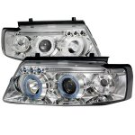1997 VW Passat Clear Halo Projector Headlights with LED
