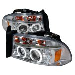 2002 Dodge Durango Clear CCFL Halo Projector Headlights with LED
