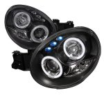 Subaru Impreza 2002-2003 Black Halo Projector Headlights with LED