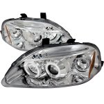 Honda Civic 1999-2000 Clear Dual Halo Projector Headlights with LED