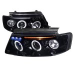 1997 VW Passat Smoked Halo Projector Headlights with LED