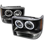 Jeep Grand Cherokee 1993-1998 Black Dual Halo Projector Headlights