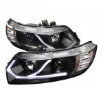 Honda Civic Coupe 2006-2011 Black Projector Headlights LED Strip