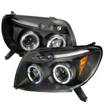 2005 Toyota 4Runner Black Halo Projector Headlights with LED