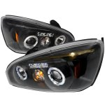Chevy Malibu 2004-2007 Black Dual Halo Projector Headlights with LED