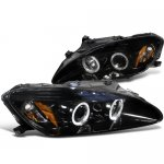 Honda S2000 2000-2003 Smoked Halo Projector Headlights with LED