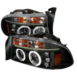 2002 Dodge Durango Black CCFL Halo Projector Headlights with LED