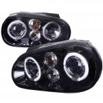 VW Golf 1999-2005 Smoked Halo Projector Headlights