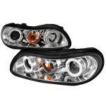 1999 Chevy Malibu Clear Dual Halo Projector Headlights with LED