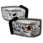 2007 Dodge Dakota Clear Dual Halo Projector Headlights with LED