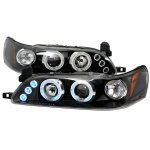 1993 Toyota Corolla Black Halo Projector Headlights with LED