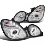Lexus GS400 1998-2000 Chrome Projector Headlights Halo LED DRL