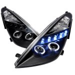 Toyota Celica 2000-2005 Black Halo Projector Headlights with LED