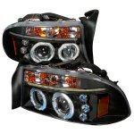 2002 Dodge Durango Black Dual Halo Projector Headlights with LED