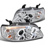 Chevy Aveo 2004-2008 Clear Halo Projector Headlights with LED